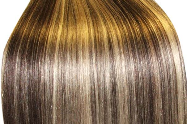 пучок длинных волос