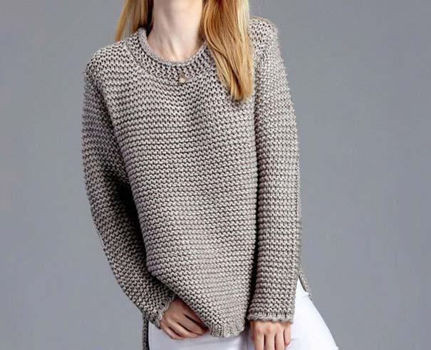 асимметричный низ свитера